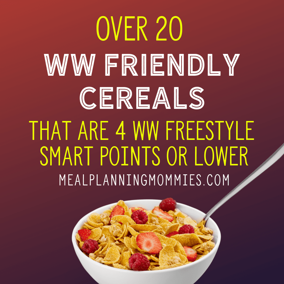 20 Cereals That Are Low In Myww Green Blue And Purple Points Meal Planning Mommies
