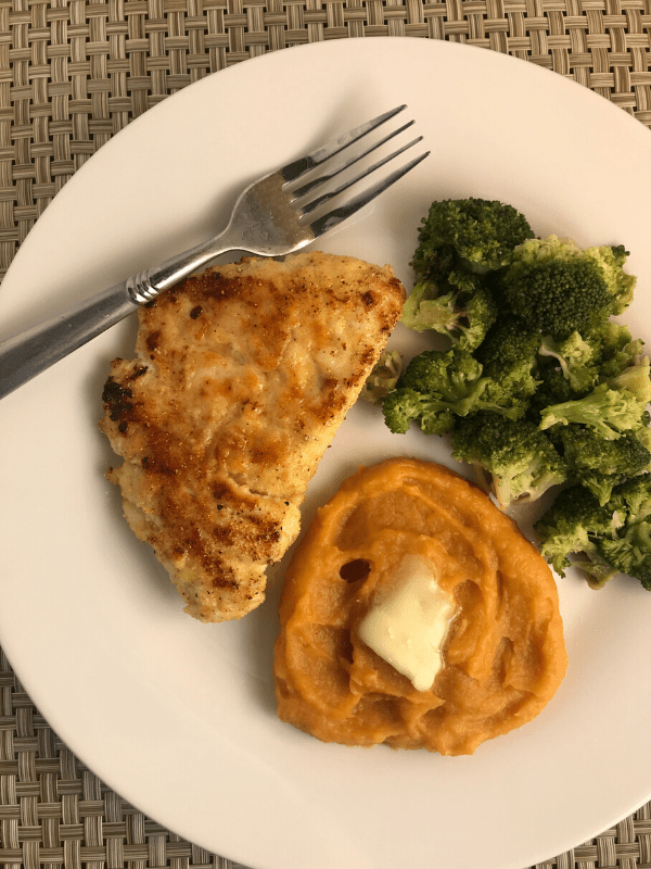 Southern Style Chicken With Mashed Sweet Potatoes Meal Planning Mommies